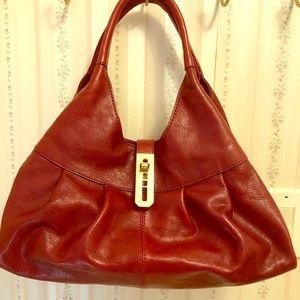 Antonio Melani red leather handbag